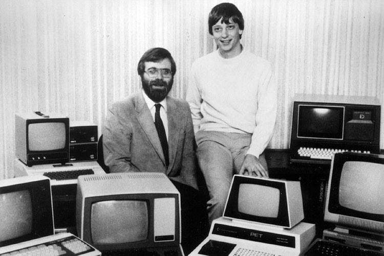 Основатели корпорации Microsoft Пол Аллен и Билл Гейтс, 1981 год