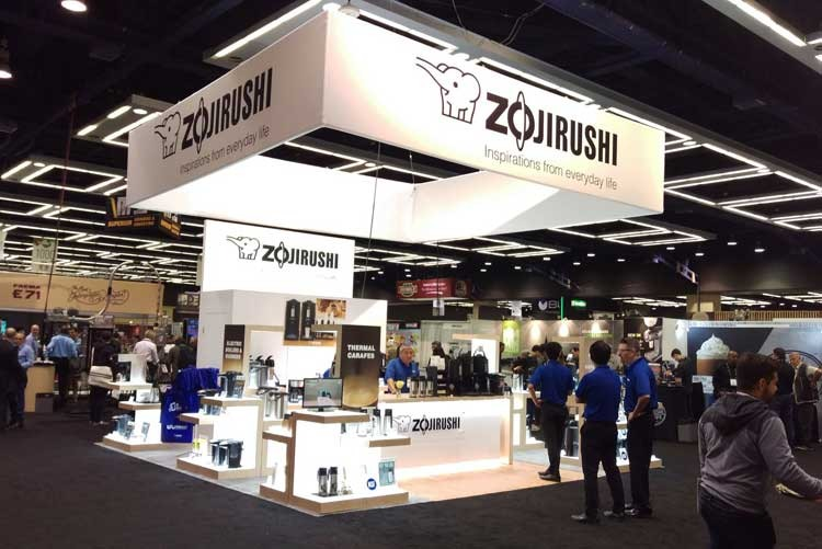 Стенд Zojirushi на выставке Global Coffee Expo в Сиэтле, США