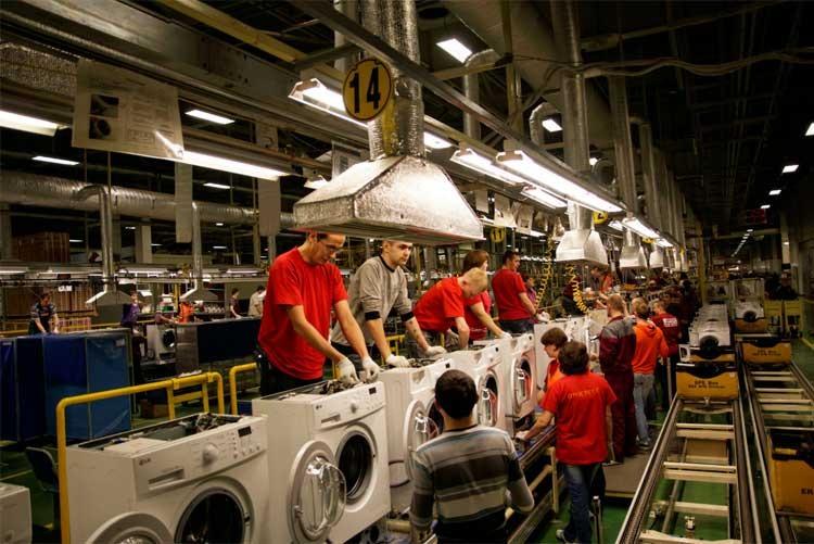 Сборочная линия стиральных машин LG