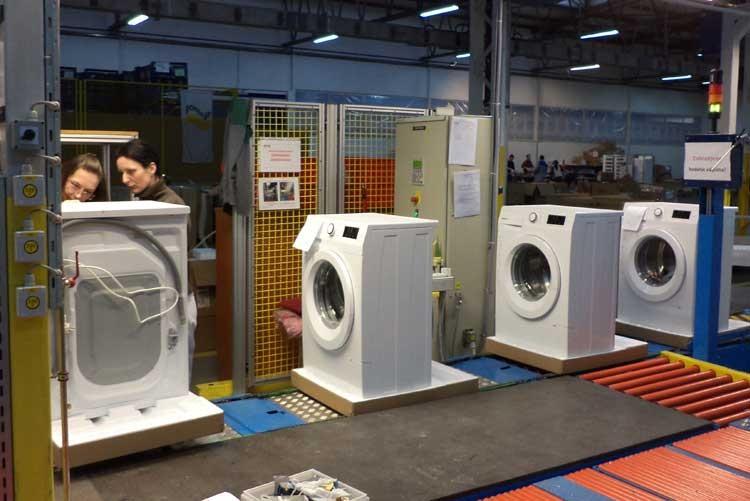 Производство стиральных машин на заводе Gorenje Home d.o.o. Zajecar