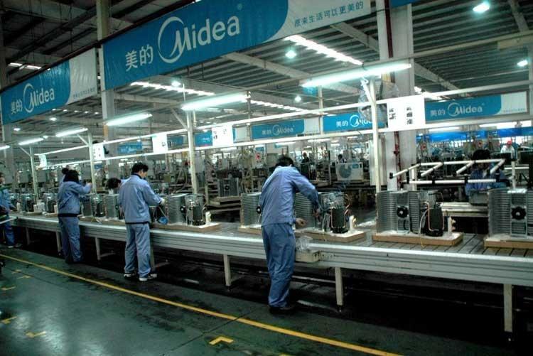 Производственная линия кондиционеров Midea