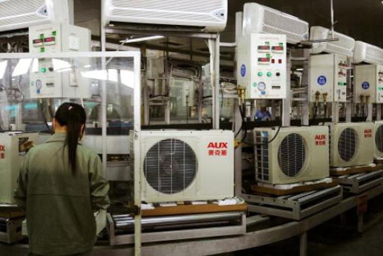 Производство кондиционеров на заводе Ningbo AUX Air Conditioner Co., Ltd