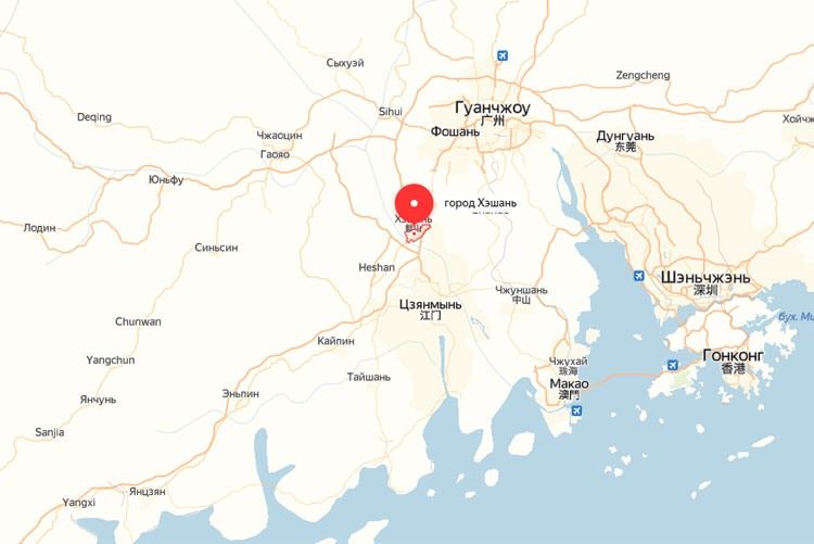 Завод Thermex Heating Technology на карте Китая