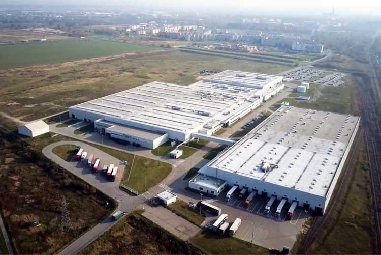 Завод Electrolux в городе Свидница, Польша