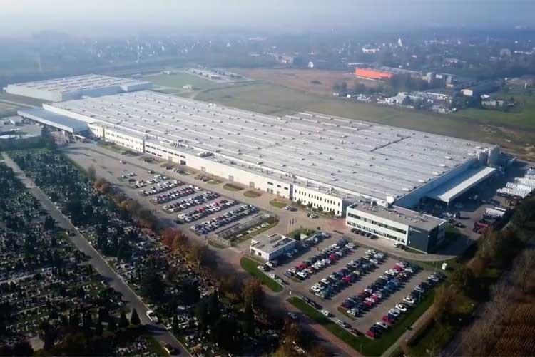 Завод стиральных машин Electrolux в Олаве, Польша