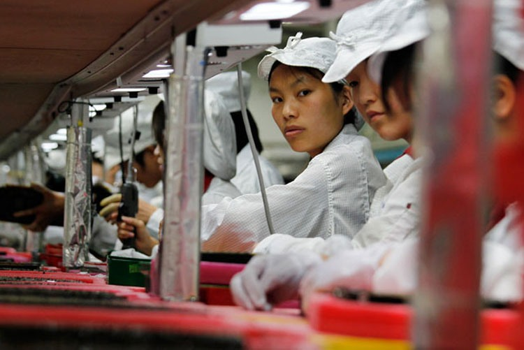 Производственный процесс на заводе Hong Fu Jin Precision Electronic