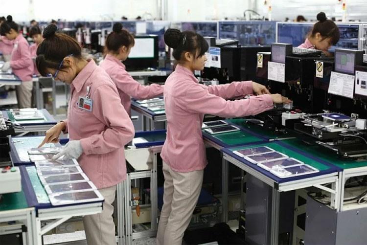 Завод Samsung Electronics по производству смартфонов и планшетов в Корее