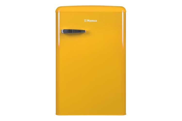 Ретро холодильник Hansa желтого цвета