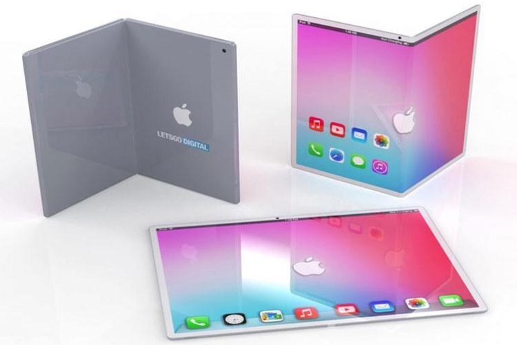 Рендерное изображение складного 7,2-дюймового iPad