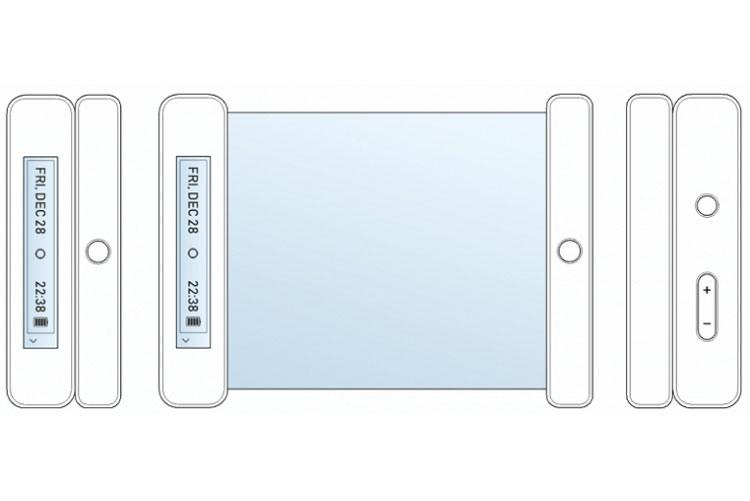 Патентное изображение сворачивающегося смартфона