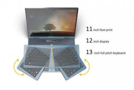 Ноутбук Compal Voyager со складывающейся клавиатурой