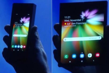 Samsung показала прототип смартфона, который можно сложить пополам