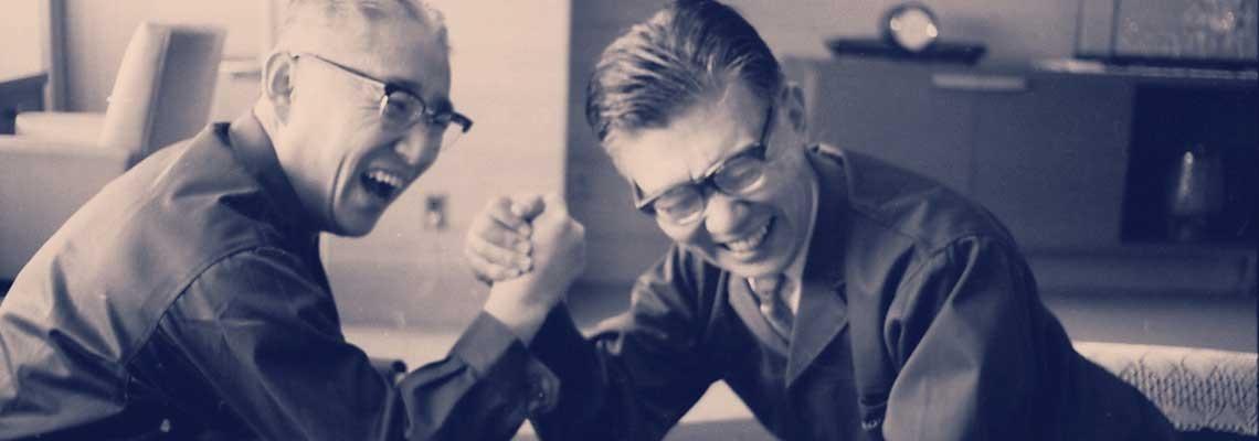 Акио Морита и Масару Ибука