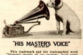 «His Master's Voice» на рекламе 1921 года с фокстерьером
