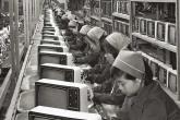 Производственная линия телевизоров Samsung
